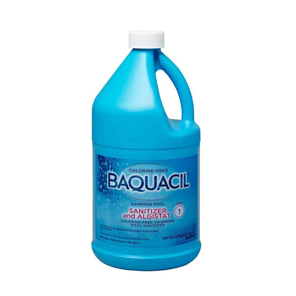Chlorine Swimming Pools Product : Baquacil sanitizer and algistat chlorine free