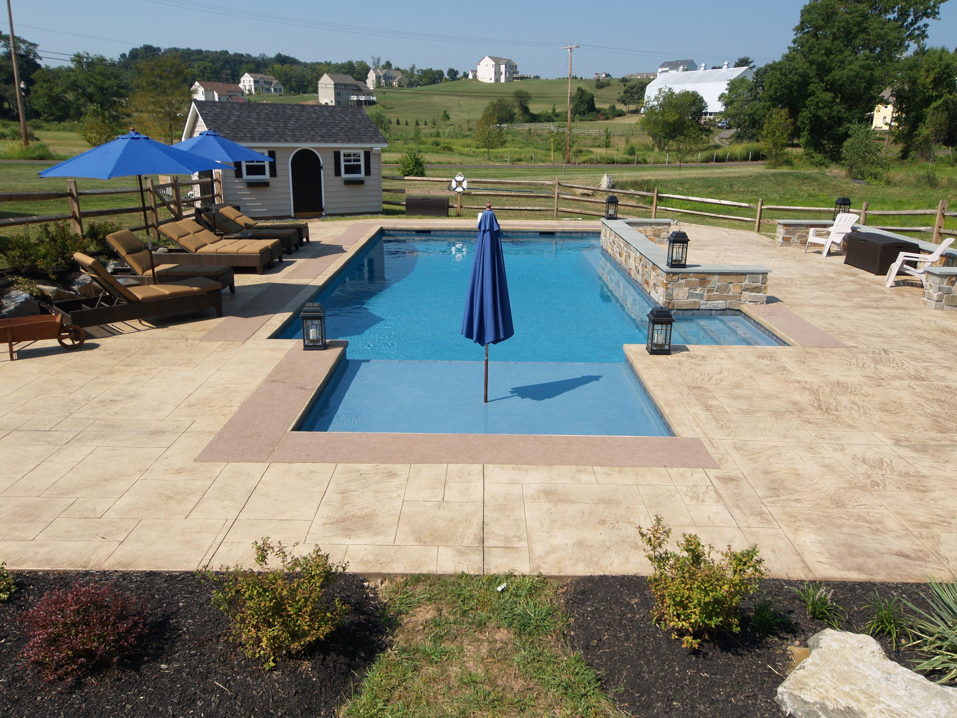 big outdoor space - Gunite Pool Design Ideas