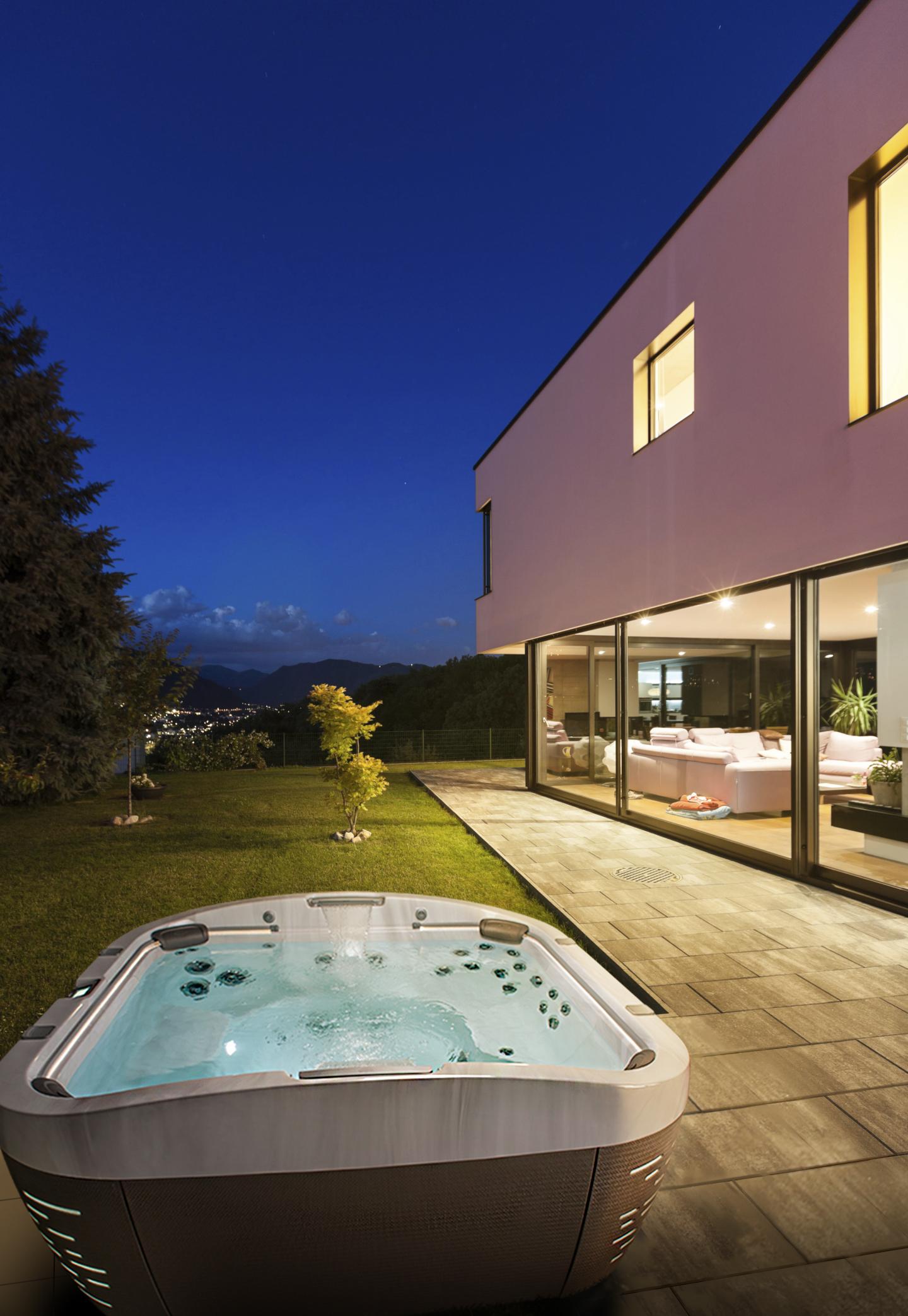 Modern villa with garden