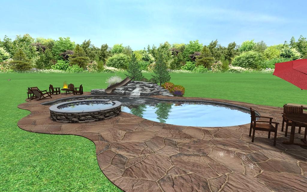 3d pool design custom deck landscape designs for 3d pool design online free