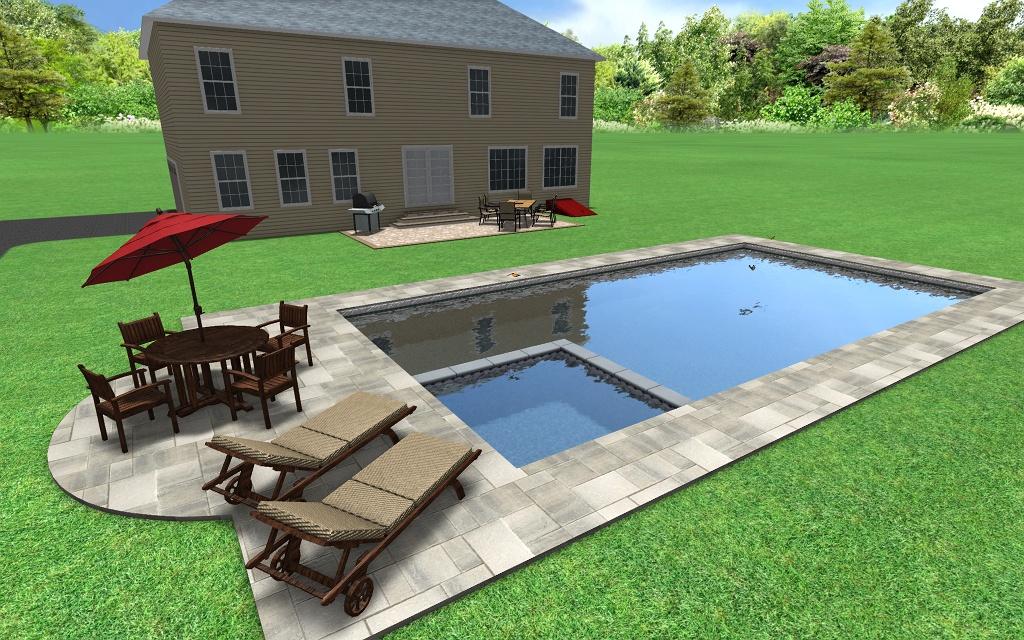 Rectangular 3d fronheiser pools for 3d pool design