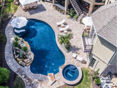 Poolscape from above