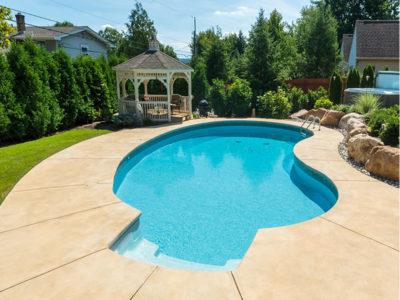 Geometric pool with gazebo