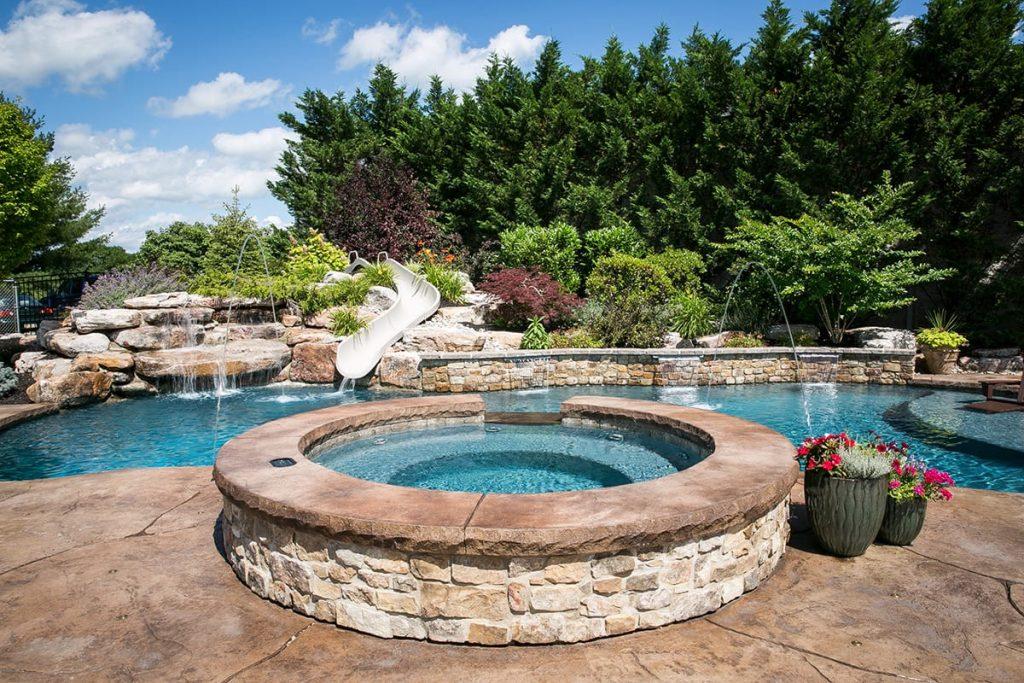 Pool showroom design center bally pa fronheiser pools for Pool design center